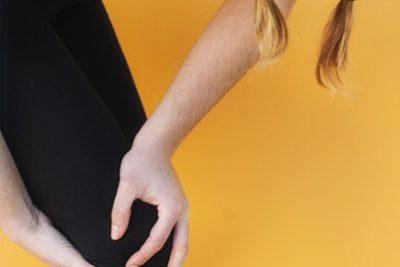 Woman with knee pain or knee arthritis